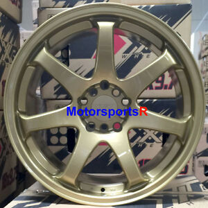 Xxr 551 Wheels 18 X 8 75 22 Gold Concave Rims 5x114 3 Mitsubishi Evo 8 9 X Mr