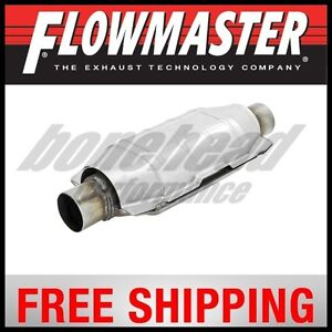 Flowmaster Universal 225 Series Catalytic Converter 2 5 In Out