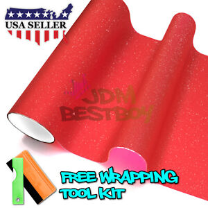12 x360 Matte Glitter Red Tint Headlight Taillight Fog Light Vinyl Film Sheet