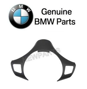 For Bmw E90 325i 325xi 330i 330xi Black Steering Wheel Cover Genuine 32306767211
