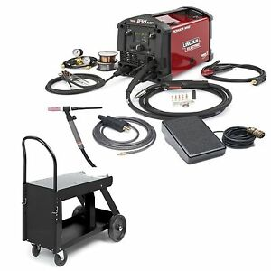 Lincoln Power Mig 210 Mp Welder W Tig Kit Hd Cart k4195 2