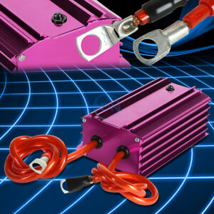 Aluminum Case Auto Universal Electric Regulator Voltage Stabilizer Cable Purple