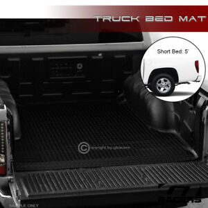 For 2004 2012 Colorado Canyon 5 Black Rubber Diamond Truck Bed Floor Mat Liner