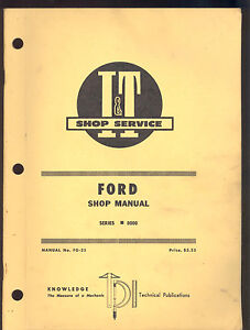 Ford I t Shop Repair Manual Series 8000 Tractors Fo 25