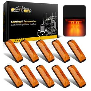 10 4 Inch Rectangle Truck Semi Trailer Sealed Side Marker Clearance Light Amber