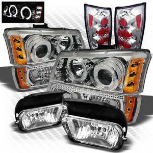 For 04 05 Avalanche Pro Headlights Bumper Altezza Tail Lights Fog Lights