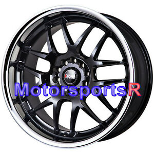 Xxr 526 17 X 9 35 Black Deep Dish Lip Rims Wheels 5x114 3 Stance Honda Civic Si