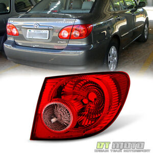 For 2005 2006 2007 2008 Toyota Corolla Tail Light Lamps Outer Rh Passenger Side