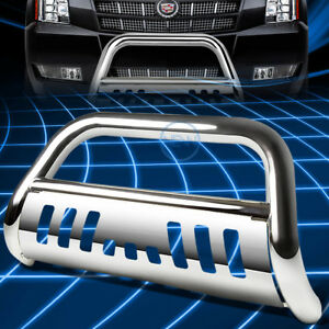 Chrome Ss Front Bumper Bull Bar Grille Guard For 2007 2014 Chevy Suburban tahoe