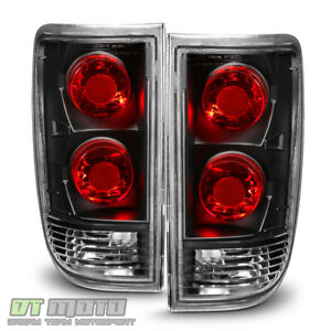 Black 1995 2005 Chevy Blazer Gmc Jimmy S10 Tail Lights Brake Lamps Aftermarket