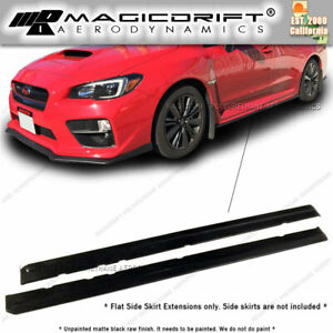 For 15 19 Subaru Impreza Wrx Sti Jdm Style Rocker Panels Side Skirts Extension