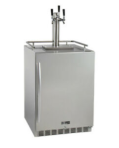Kegco Hk38ssu 3 3 tap Outdoor Built in Kegerator W premium Dispense Kit