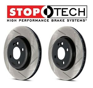 For Cts V Set Of Front Left Right Stoptech Sportstop Slotted Brake Rotors