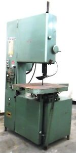 Grob Inc Band Saw 4v 24 M30 005 2441 Serial Year 1985 28 X 24 Table