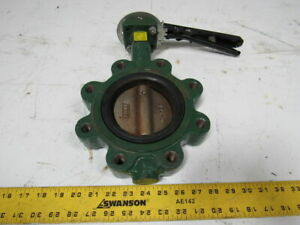 Centerline Series 200 4 Lug Type Butterfly Valve W manual Hand Lever Actuated