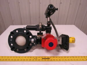 Asawi 4 Lug Type Pvc Butterfly Valve Assembly Air Actuated Spring Return