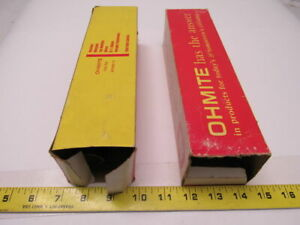 Ohmite 2524 Vitreous Enameled Resistors 300 Watt 20 Ohm O Lot Of 2