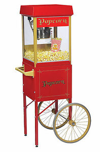 Gold Medal Fun Pop 2404 Popcorn Machine With 2649cr Trolley Cart