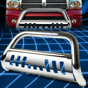 Chrome Ss Front Bumper Bull Bar Grille Guard For 1994 2002 Dodge Ram 1500 3500