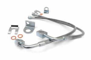 Rough Country Front Ext Stainless Steel Brake Lines 07 18 Jeep Wrangler Jk