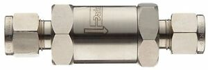 R1 Parker Stainless Steel 316 Check Valve A lok Compression Fitting R1 86015