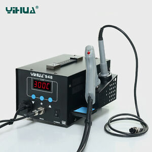 Us yihua948 Electric Suction Tin gun To Tin With Soldering Iron Handle New 220v
