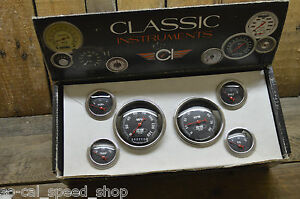 Classic Instruments So cal Speed Shop 6 Gauge Set Hot Rod Steet Custom Tach 32