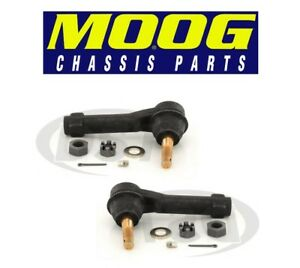 For Pontiac Chevy Pair Set Of 2 Front Outer Steering Tie Rod Ends Moog Es3453