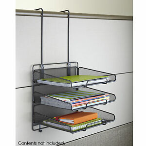 Onyx Panel Organizer Triple Tray Mesh Black