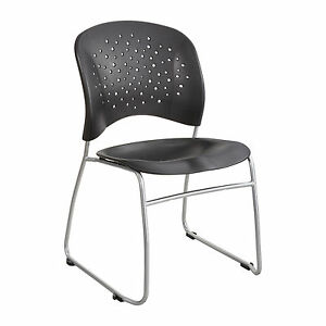 Reve Guest Chair Sled Base Round Back