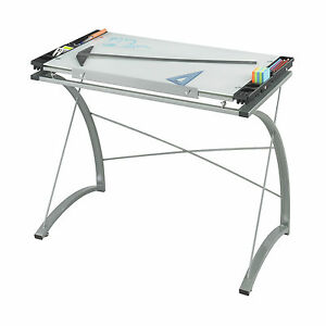 Xpressions Drafting Table Tempered Glass