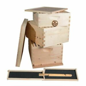 Complete 3 Tier Beginners Bee Hive Kit Gl3stack