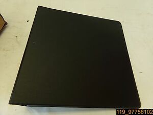 Qty 12 Cardinal Round 3 Ring Binder W 2 Pockets 3 Cap Black 90340