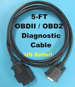 New Obd2 Obdii Cable For Cen Tech Centech Model 94217 Scanner Code Reader Tool