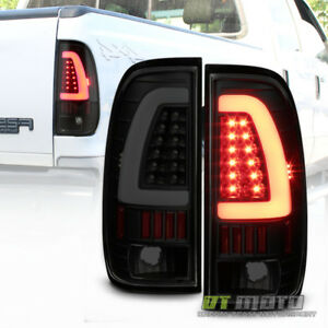 Black Smoke 1997 2003 Ford F150 99 07 F250 F350 Led Tube Tail Lights Brake Lamps