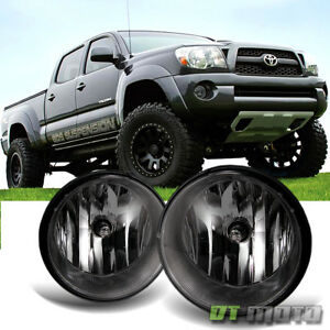 For Smoked 2005 2011 Toyota Tacoma Sequoia Fog Lights Switch Bulbs Left Right
