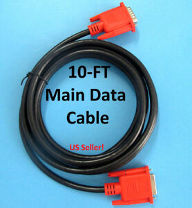 Brand New Original Autel Maxidas Ds708 Scanner Main Test Data Cable 10ft Long