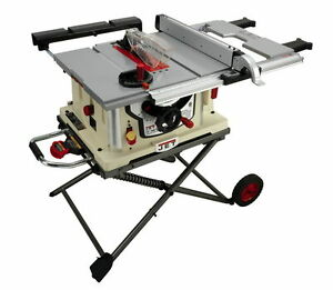 Jet Jbts 10mjs 10 Jobsite Table Saw W Stand 707000 Free Shipping