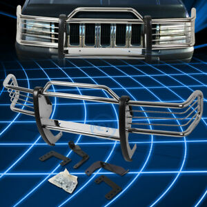 For 93 98 Jeep Grand Cherokee Chrome Bumper Grill Protector Grille Brush Guard