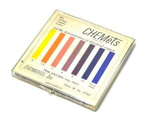 Chemetrics Inc Type 0 15 Chemets For The Determination Of Dissolved Oxygen Kit