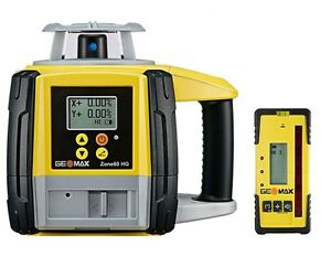 Geomax Zone60hg Semi automatic Dual Grade Laser With Zrp105 Pro Receiver 6010660