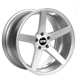 22 Staggered Str Wheels 607 Silver Rims