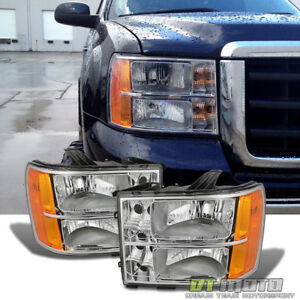 2007 2014 Gmc Sierra 1500 2500 3500 Headlights Lamps Left right Pair Re