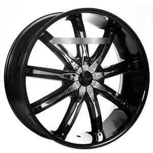 26 Dcenti Wheels Dw29 Black W Chrome Inserts Rims