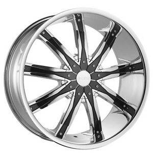 26 Dcenti Wheels Dw29 Chrome W Black Inserts Rims