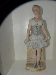Antique Bisque Heubach Germany Ballerina Dancer Figurine Figure Piano Baby