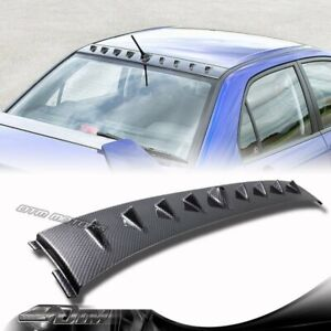 Carbon Fiber Style Shark Fin Rear Roof Spoiler For 02 07 Mitsubishi Lancer Evo