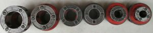 Rigid Pipethreader Die Set 2in 1 1 2in 1 1 4in 1in 3 4in And 1 2in no Inserts