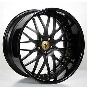 Set4 19 Staggered Ac Forged Wheels Rims 313 Bk gold 3 Piece