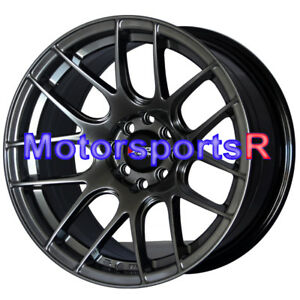 Xxr Wheels 530 15x8 20 Chromium Black Concave Rims 4x100 93 01 Acura Integra Gsr